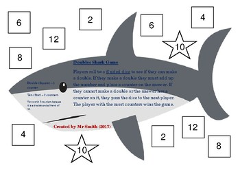 Doubles and Near Doubles Shark Game