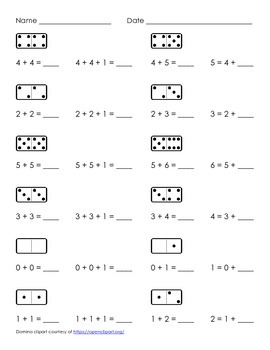 Doubles and Neighbors (Doubles +1) Worksheets