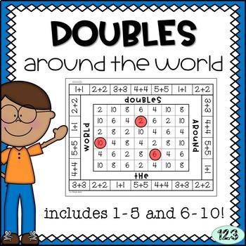 Doubles Facts Math Game 1-5 and 6-10