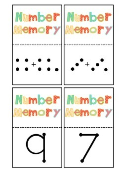Doubles plus 1 (near doubles) and subitizing maths memory game