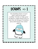 Doubles plus and minus one using number bonds