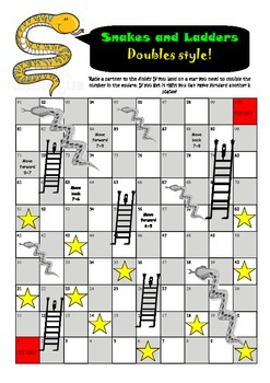 Doubles snakes and ladders