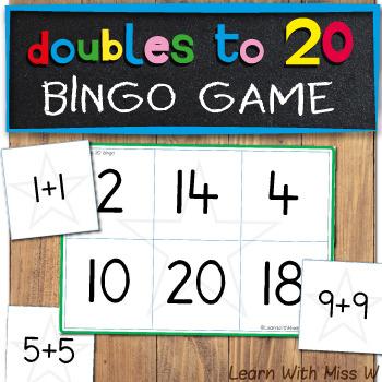 Doubles to 20 Bingo Game