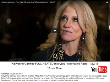 Doublespeak & Alternative Facts (Word Wall & Video Clips)