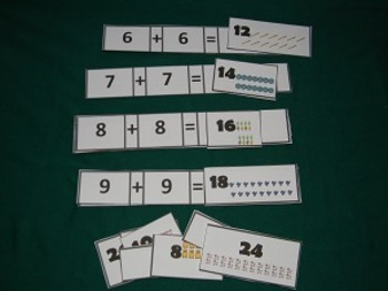 Doubling Addition Facts Math Center - Hard Good
