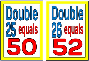 Doubling & Halving to 100 (BUNDLE PACK)