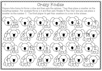 Doubling Koalas- differentiated doubling game
