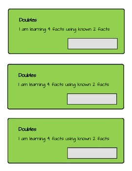 Doubling Learning the 4 Facts from the 2 Facts Student Booklet