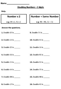 Doubling Numbers