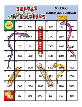 Doubling Numbers - Board Game - Square Numbers