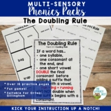 Phonics Packs: The Doubling Rule | Spelling Rule Orton Gil