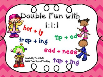 Doubling Rule Activities Suffixes Games  (111 Rule Orton Gillingham)