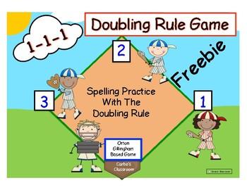 Doubling Rule Spelling Game FREEBIE
