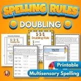 Doubling Rule Spelling Activities