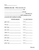 Doubling Rule Worksheets -Orton Gillingham Aligned