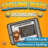 Doubling Spelling Rule Digital Boom Task Cards