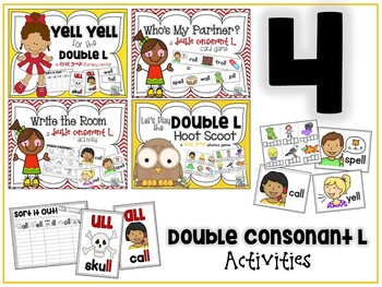 Doubling the Final Consonant L Activities