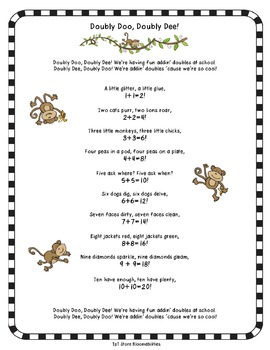 Doubly Doo, Doubly Dee: A Math Doubles Poem