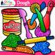 Playdough Clip Art {Glitter Craft-Dough for Mat Activities and Centers}