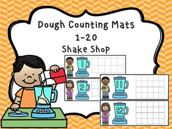 Dough Counting Mats 1-20 Shake Shop