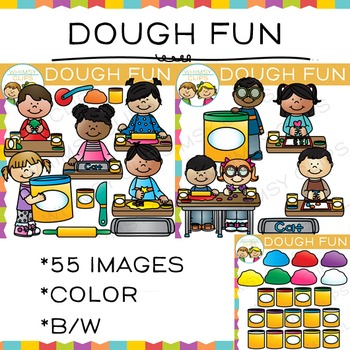 Fun with Dough: Center Clip Art