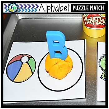 Dough Letter Match {Alphabet Sounds Center}