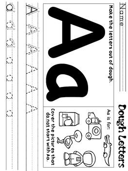 Dough/ Loose Parts Letters
