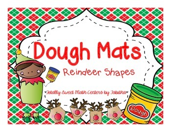 Dough Mats- Reindeer Shapes