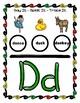 Dough Mats for the Letter D - Splat It Mash It - Font Match - Simple Maze & More