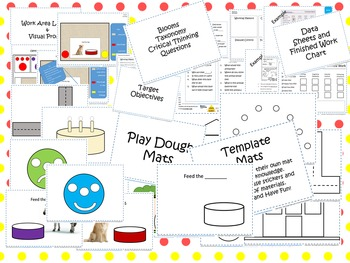 """Dough"" - Play Dough Mats with Critical Thinking Questions"