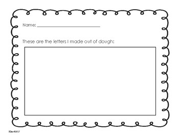 Dough letters accountability worksheets