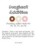 Doughnut Addition Fact Practice
