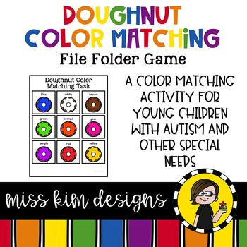 Doughnut Color Matching Folder Game for Early Childhood Sp