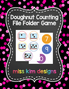 Doughnut Counting File Folder Game for Special Education