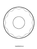 Doughnut Craft Template