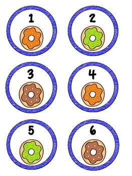 Doughnut Numbers 1-55  Free