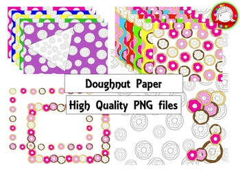 (Fresh Freebie) Doughnut Shop Digital Paper Pack (Personal & Commercial Use)