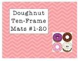 Mini Eraser Doughnut Ten-Frame Mats Numbers 1-20