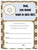 Doughnuts with Dad Invitation