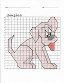 Quadrant 1 Coordinate Graph Mystery Picture, Douglas the Dog