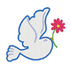 Dove Digital Machine Embroidery Design, Easter Spring Dove Embroidery, 3 Sizes