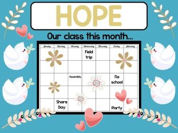Doves of Peace Bulletin Board - BeBe Bulletin Boards, Class Decor Set