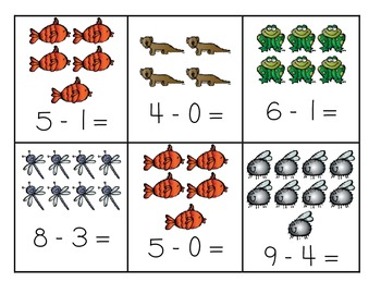 Down By The Pond - Subtraction Centers
