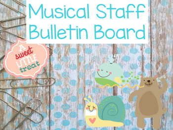 Down By the Bay Musical Staff Bulletin Board