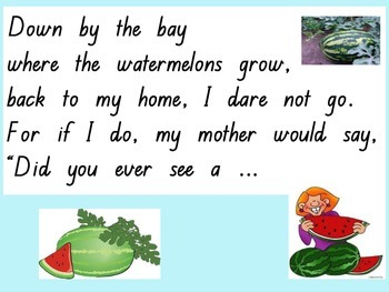 Down By the Bay Rhyming PowerPoint #betterthanchocolate