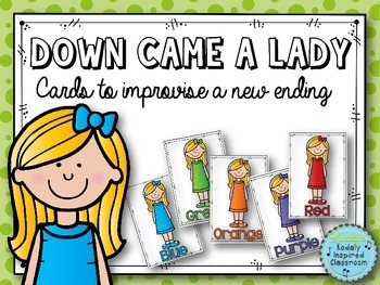 Down Came a Lady - Color Cards