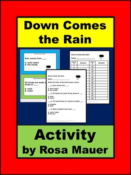 Down Comes the Rain Book Unit