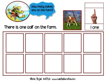 Down On My Farm – a bilingual book, numbers, counting, animal babies, farm theme