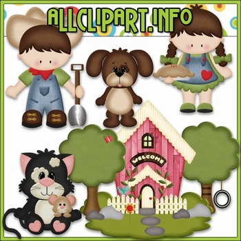 BUNDLED SET - Down On The Farm 3 Clip Art & Digital Stamp Bundle