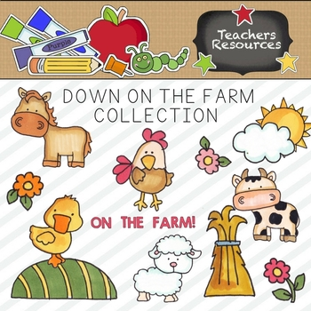 Down On The Farm Clipart Collection || Commercial Use Allowed